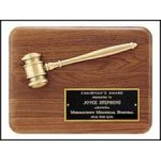 PG1686  Plaque with Bronze Gavel